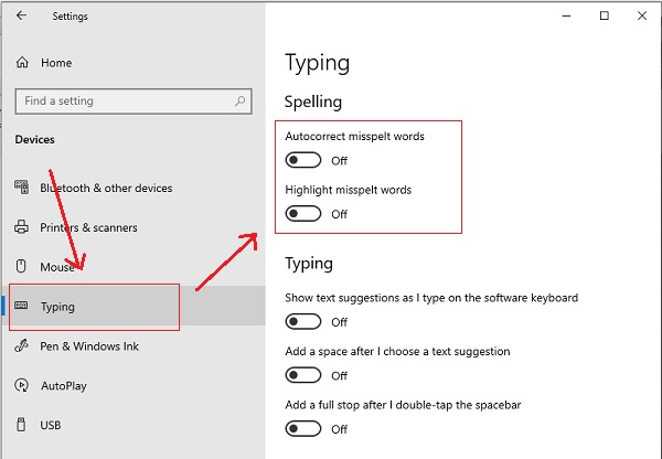 Mematikan Autocorrect/Text Correction Windows 10