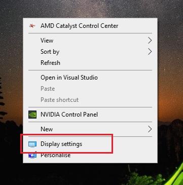 Buka display setting