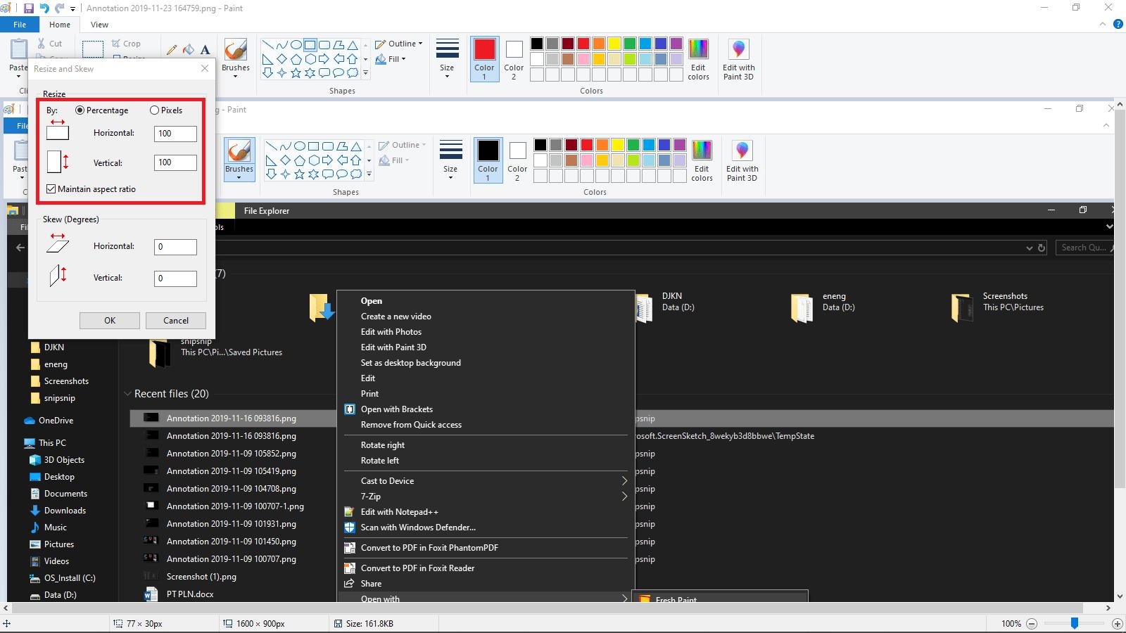 Mengecilkan Ukuran Gambar/Foto di Windows 10