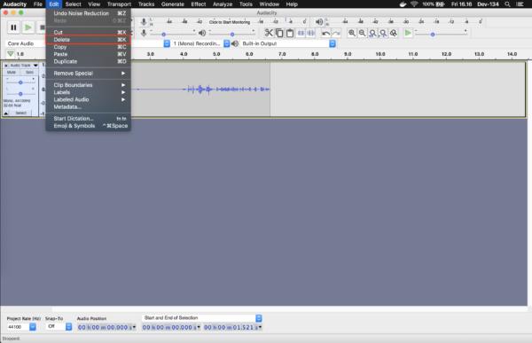audacity-delete-track