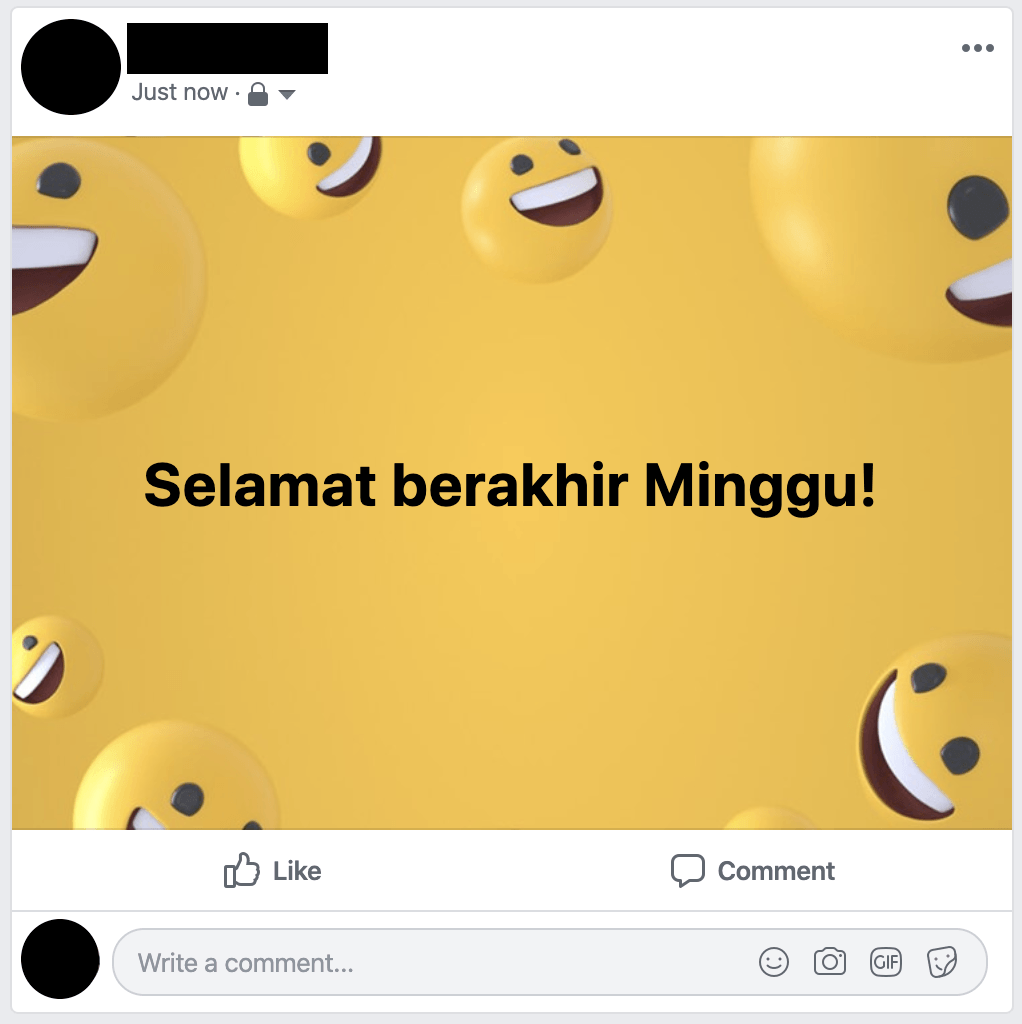 Status berwarna di Facebook