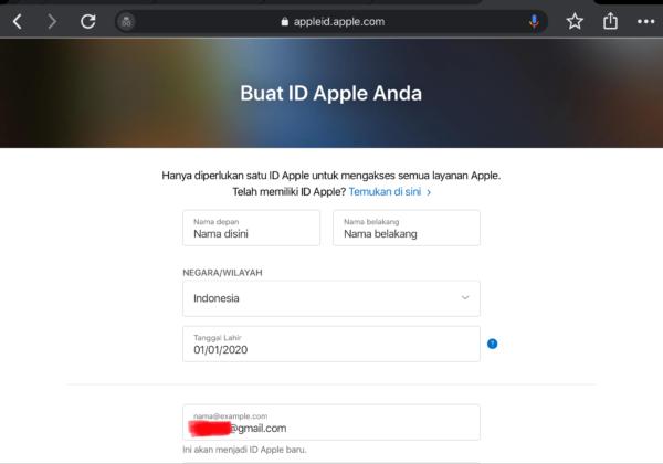 Langkah-Langkah Membuat Akun Apple ID