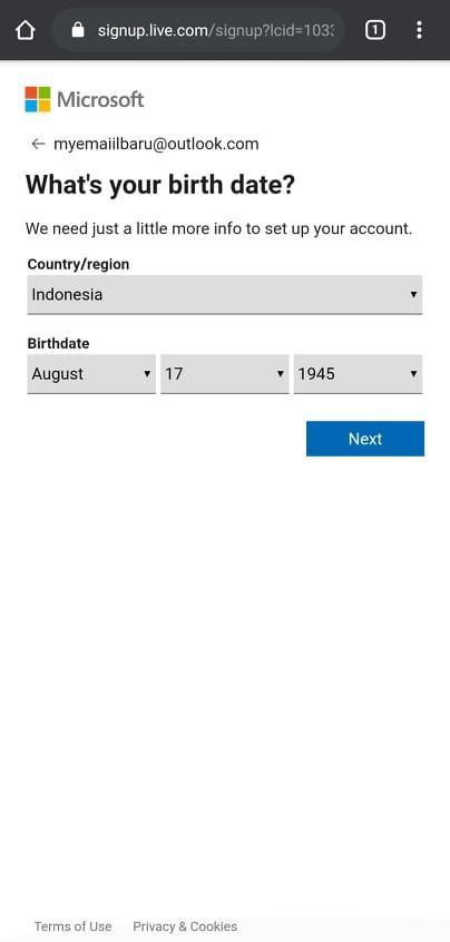 Outlook mobile birthday