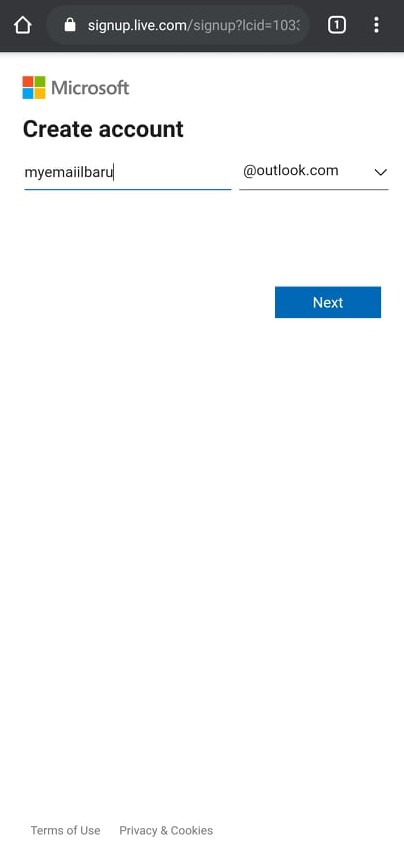 Outlook Email Name