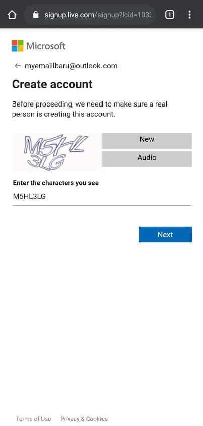 Outlook mobile verifikasi kode
