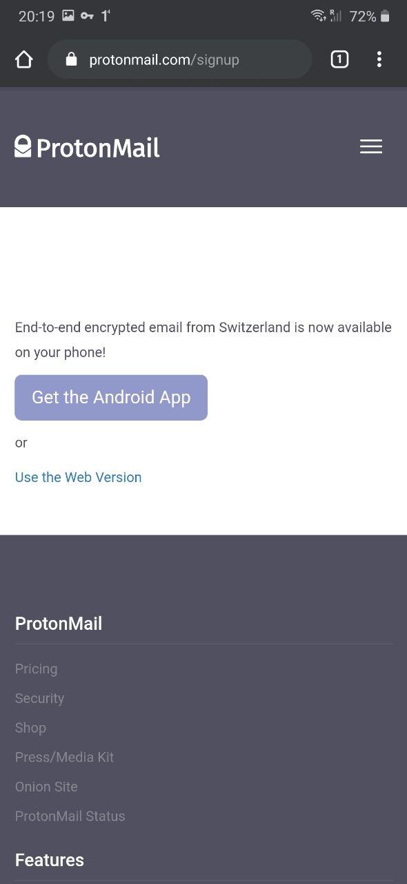 Pilih proton web