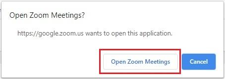launch zoom setelah login