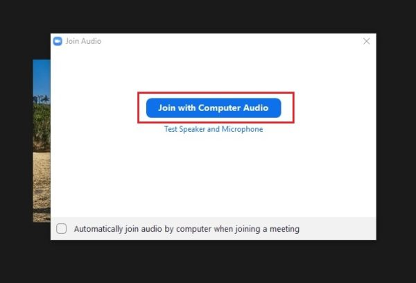 join with computer audio