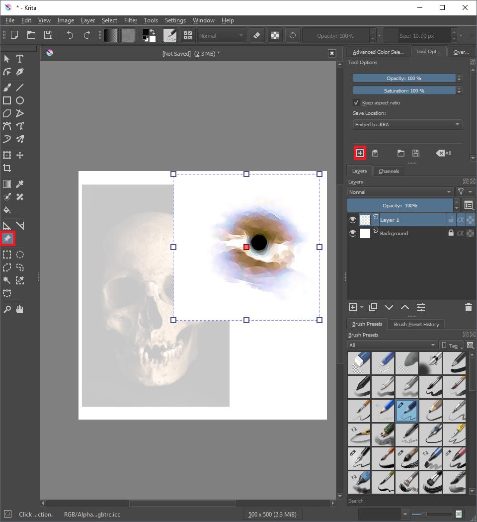 Menggunakan Fitur Gambar Referensi – Krita