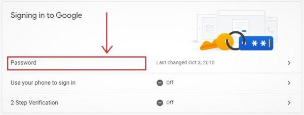 klik menu sandi akun google