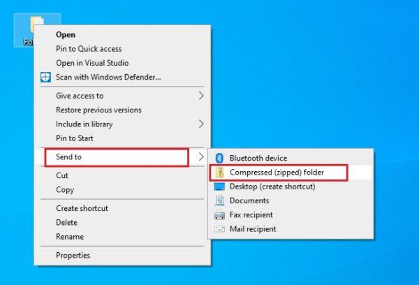 cara mengcompressed file di windows 10