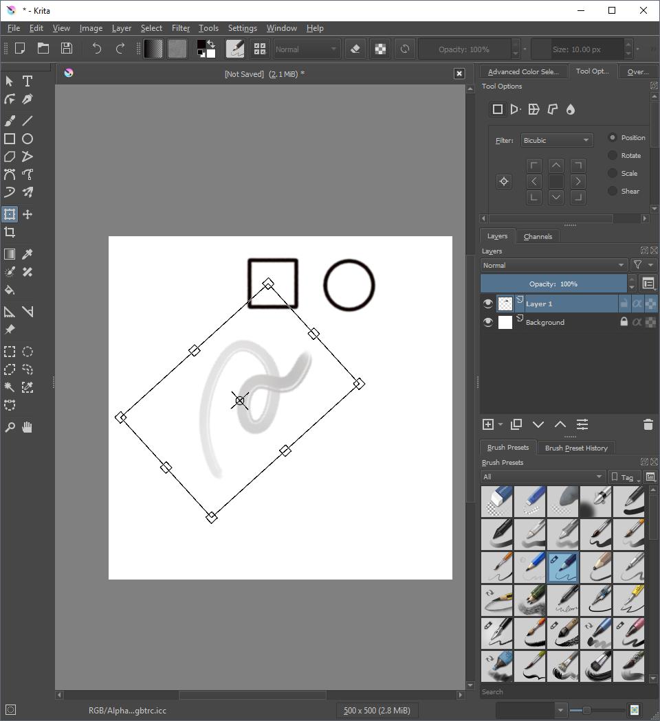 Cara-Cara Memanipulasi Gambar – Krita