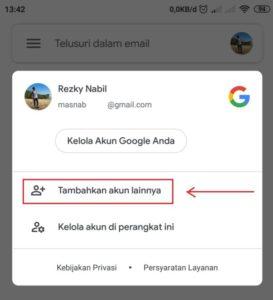 Cara Menambahkan Akun Gmail