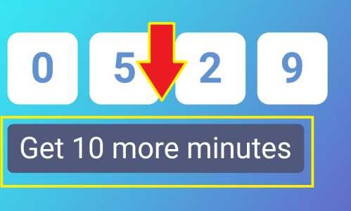 tombol untuk memperpanjang durasi email sementara