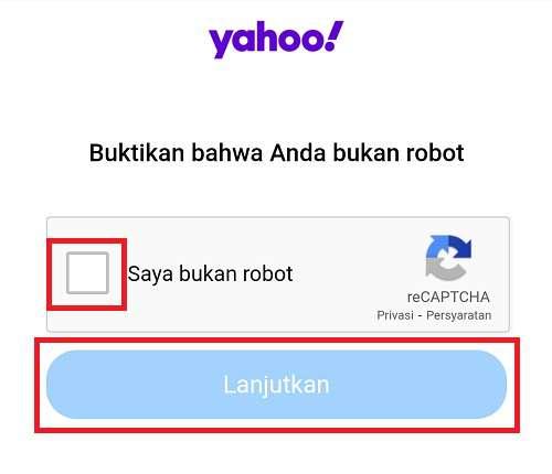 kotak yang perlu dicentang di verifikasi robot