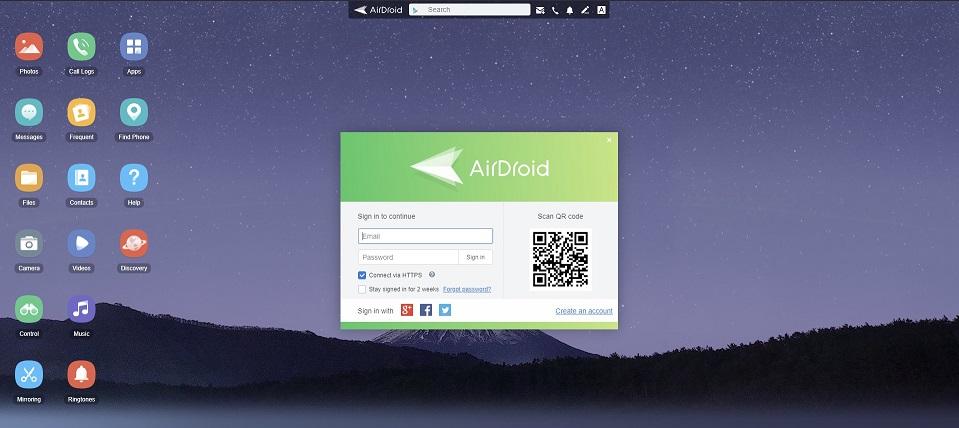 AirDroid Website